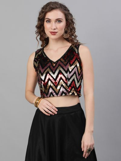 Multicolor Sequenced Blouse