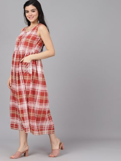 Red Checked A-Live Dress